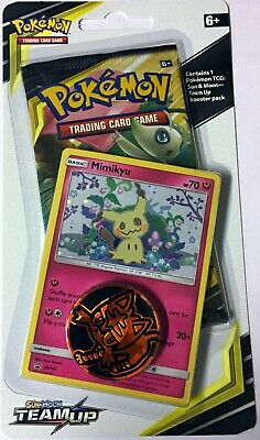 MIMIKYU #SM163! Pokemon TCG. S&M TEAM UP. Checklane Blister Pack. Low Shipping $