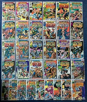 John Carter, Warlord of Mars 1-28 Annuals 1-3 Marvel Comic 1977 VF Bronze Age
