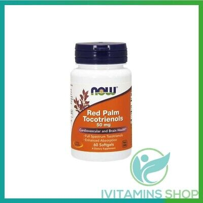 NOW Foods  Red Palm Tocotrienols, 50mg -  60 softgels  Free P&P