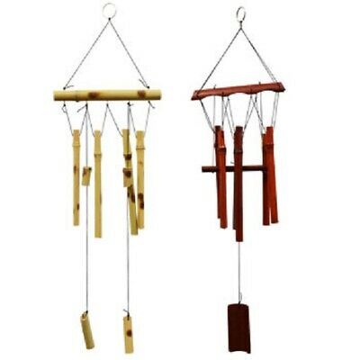 "Garden Collection Natural Bamboo Wind Chimes, 18"" 2 Color Choices"
