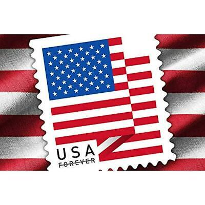 ONE ( 1 ) NEW ROLL of US FLAG USPS FOREVER POSTAGE STAMPS  w / FREE GIFT