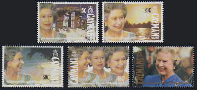 Cayman Is. - 1992 Queen's Accession Set. Sc. #648-52, SG #737-41. Mint NH
