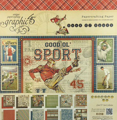 G45 - Good Old Sport - 12in.x12in.  Paper Pad