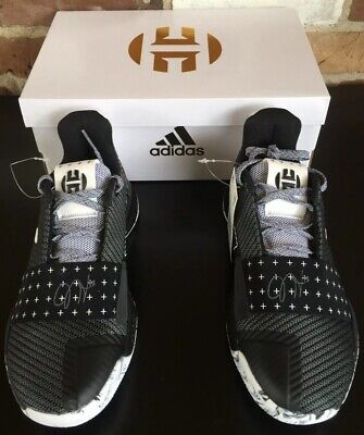 f2860a33292f NEW Adidas James Harden Vol 3 Basketball Shoes Black White GS Sz 5Y (AC7616  )