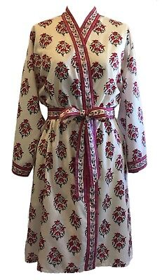 one size Anokhi  scooped neck dress 100/% Cotton Cypress Floral