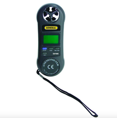 General Tools Digital Air Speed Flow Meter HVAC Tool Wind Sensor Airflow Tester