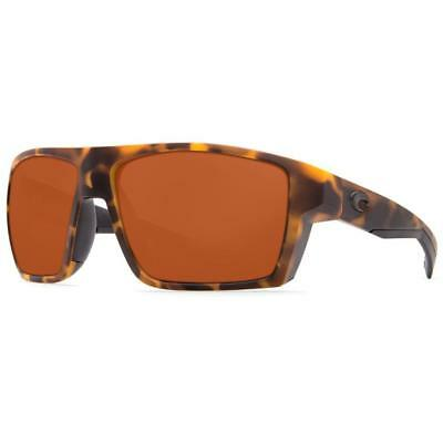 580abea333 New Costa Del Mar BLOKE Polarized Sunglasses Matte Retro Tortoise Amber 580P