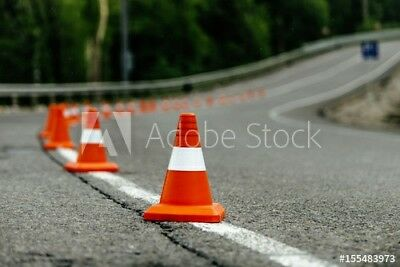 "30  Traffic Cones 18""w/ 4""  Reflective Road Safety Parking Cones New Orange"
