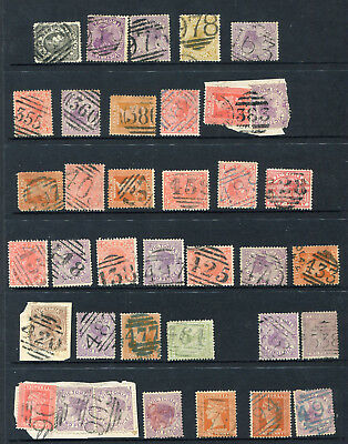 Victoria Barred Numerals 340 To 978 X 34 Different .good Lot