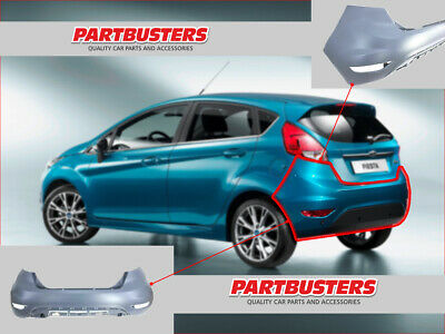 Ford Fiesta Mk7 2008-2016 3 And 5 Door Rear Bumper No Pdc Next Day Delivery