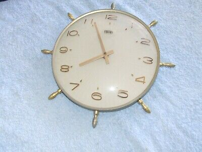 Smiths Round Steering Wheel Clock Battery Operated Vintage Retro