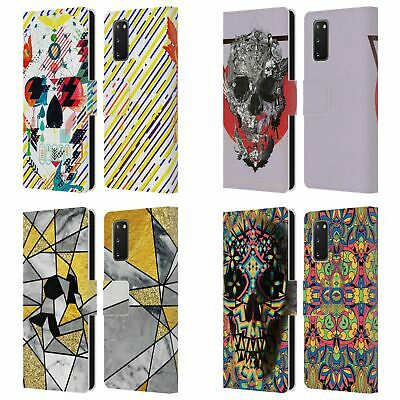 Official Ali Gulec Geometric Skull Leather Book Wallet Case For Samsung Phones 1