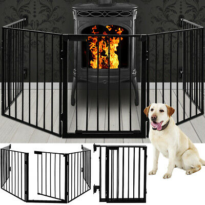 Fireplace Screen Fire Guard Protection Grid Safety Barrier Metal