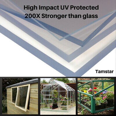 Clear Polycarbonate Sheet Palram Solid Plastic Greenhouse Shed Window Panel 2mm
