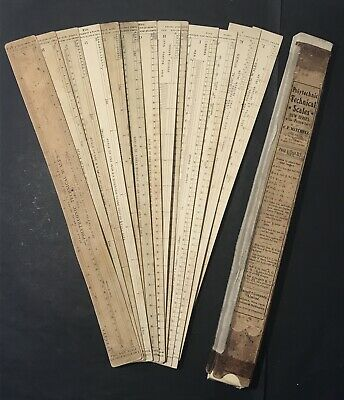 Antique POLYTECHNIC TECHNICAL SCALES & Protractors CF Mitchell Cassell & Co 1910