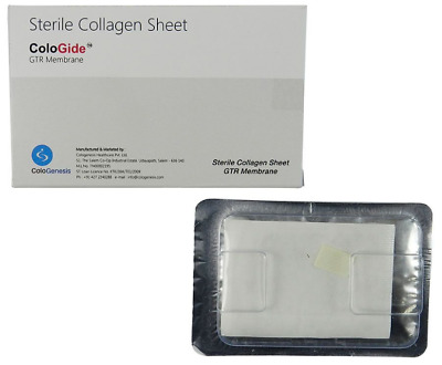 3 X  COLO GIDE STERILE COLLAGEN SHEET GTR MEMBRANE 15 x 20mm