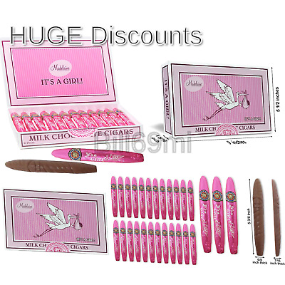 Madelaine Premium Milk Chocolate Cigars - It's a Girl Baby Shower Favors Gift...