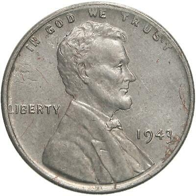 1943 Lincoln Wheat Cent Uncirculated Steel Penny US Coin