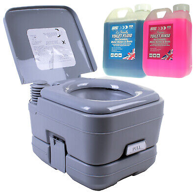 Portable Toilet & Chemicals Mobile Camping Chemical WC Outdoor Picnic Festivals