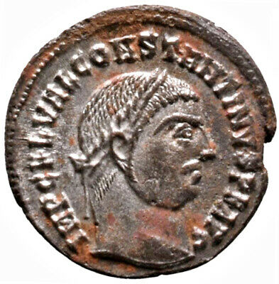 CONSTANTINE THE GREAT (316 AD) Rare Follis. Alexandria #IU 1529