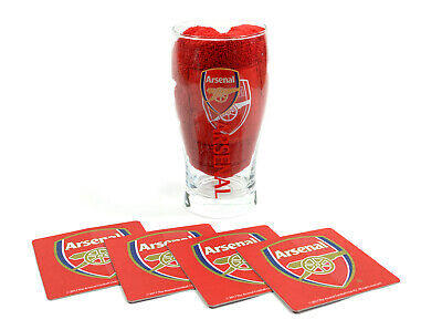 Arsenal FC Official Wordmark Mini Football Bar Glass Set