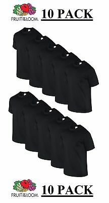 New 10pk BLACK FOTL Mens T Shirt Plain Original 100% Cotton Blank Tee Bulk Buy