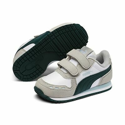 Puma Cabana Racer Sl V Inf Children Sneaker Shoes 351980 White Green