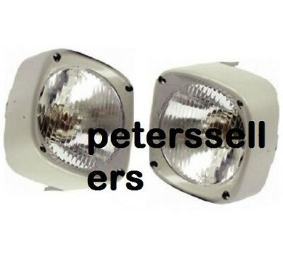 HEAD LIGHT LAMP WITH COWL PAIR LH and RH Massey Ferguson Tractor 135 165 185