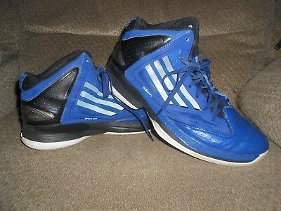 100% authentic 2befb fdeef Adidas High Top Adizero Mens Bluewhite Basketball Athletic Shoes-Size  9-Nice
