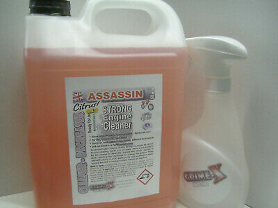 ASSASSIN Strong ENGINE CLEANER DEGREASER Cleans Oil Grease + Pressure Hand Spray
