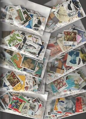 ASSORTED COLLECTION OF 100 PLUS  GB USED  STAMPS read description & view scans