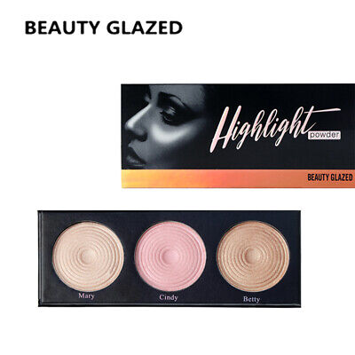 BEAUTY GLAZED  Brand Highlight Pressed Illuminating Powder Easy To Wear Conceale