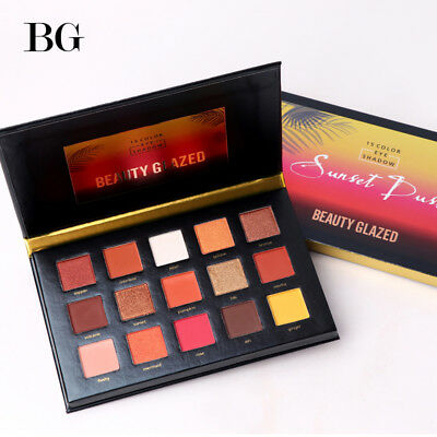 BEAUTY GLAZED 15 Color Eyeshadow Pallete Make up Long lasting Eye Shadow Matte