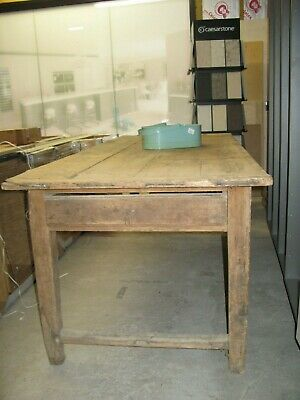 Old, antique solid Pine dining table, will seat x 8