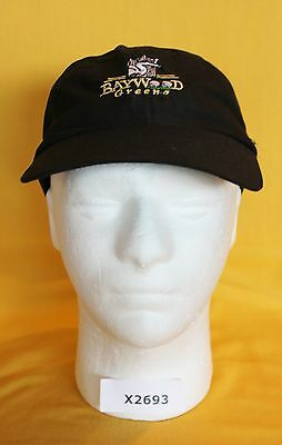 Bay Wood Greens Golf Hat Cap Adjustable Black NEW X2693 x a29a5763168a