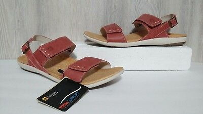 5544351370adcb Womens Spenco Alex Leather Total Support Orthotic Adjustable Casual Sandal  Sz 11