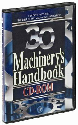 Machinery's Handbook, 30th Ed. , CD-ROM Only by Erik Oberg (2016, CD-ROM)