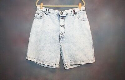 26a1103df011 Vintage 80 s Sasson Women s Size 17 18 Stone Wash Denim High Waist Jean  Shorts