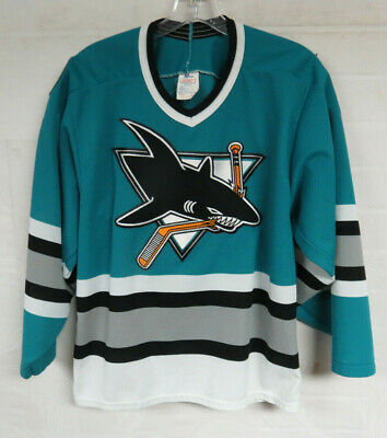 best website 7be7e e61ca VINTAGE SAN JOSE SHARKS JERSEY VTG 90s CCM NHL HOCKEY JERSEY MENS SMALL  UNISEX