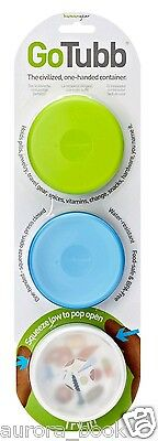 Go Tubb One-Handed Container – 3 Pack – Medium – Clear/Green/Blue WA50149