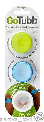 Go Tubb One-Handed Container – 3 Pack – Small – Clear/Green/Blue WA51219