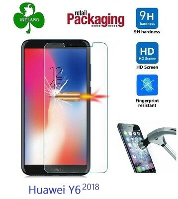 For Huawei Y6 2018 Tempered Glass Genuine Screen Protector Glass Guard New