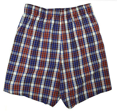 "Gap Mens Red And Blue White Plaid 4"" Boxers 1 Pc Set Sz Small S 8481-3"