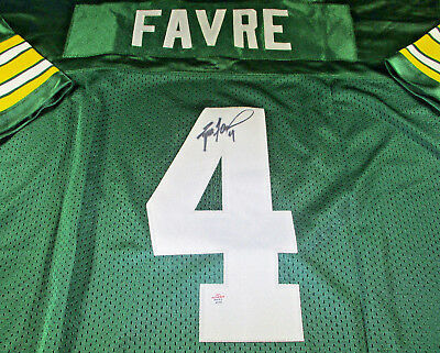 promo code 66db5 ef8b2 BRETT FAVRE - Nfl Hall Of Fame - Hand Signed Green Bay Packers Throwback  Jersey