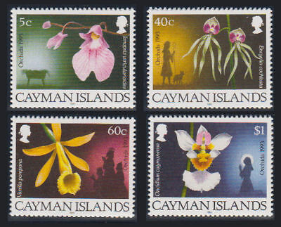 Cayman Is. - 1993 Christmas (Orchids) Set. Sc. #672-5, SG #769-72. Mint NH