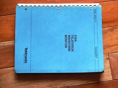 Tektronix 528A Television Waveform Monitor 1981/1984 Instruction Manual
