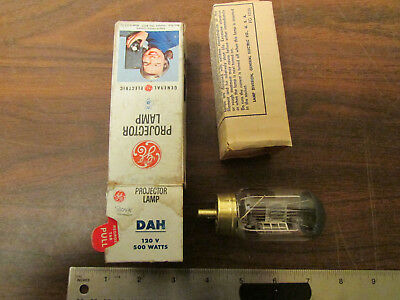 General Electric DAH Projector Lamp 500 Watts 120 Volts 25 NOS