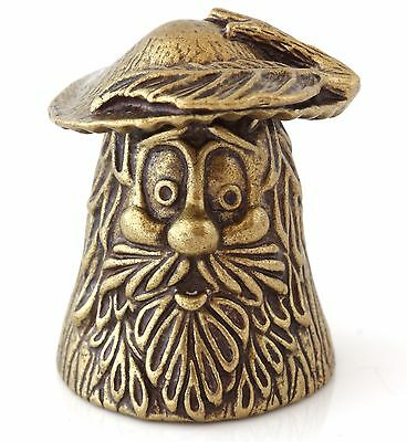 "Mushroom Brass Bronze Thimble Decorative Collectible Russian Souvenir 1"" Height"