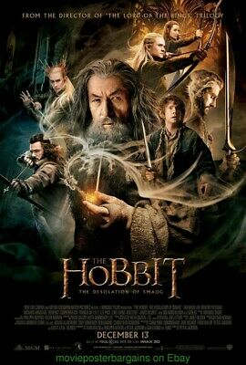 THE HOBBIT : The Desolation Of Smaug MOVIE POSTER DS 27x40 HOBBIT Part 2 Final !