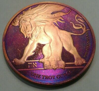 2018 Niue roaring lion 1oz Silver Coin, with Beautiful, TONED ..